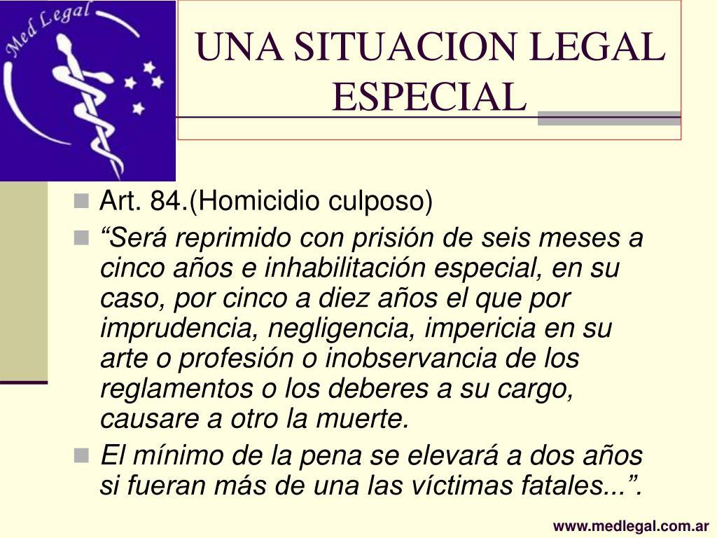 UNA SITUACION LEGAL ESPECIAL