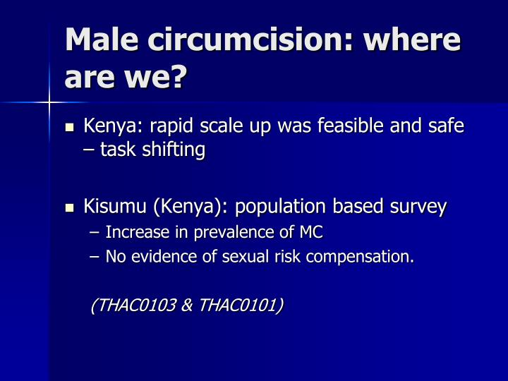 Male circumcision: where are we?
