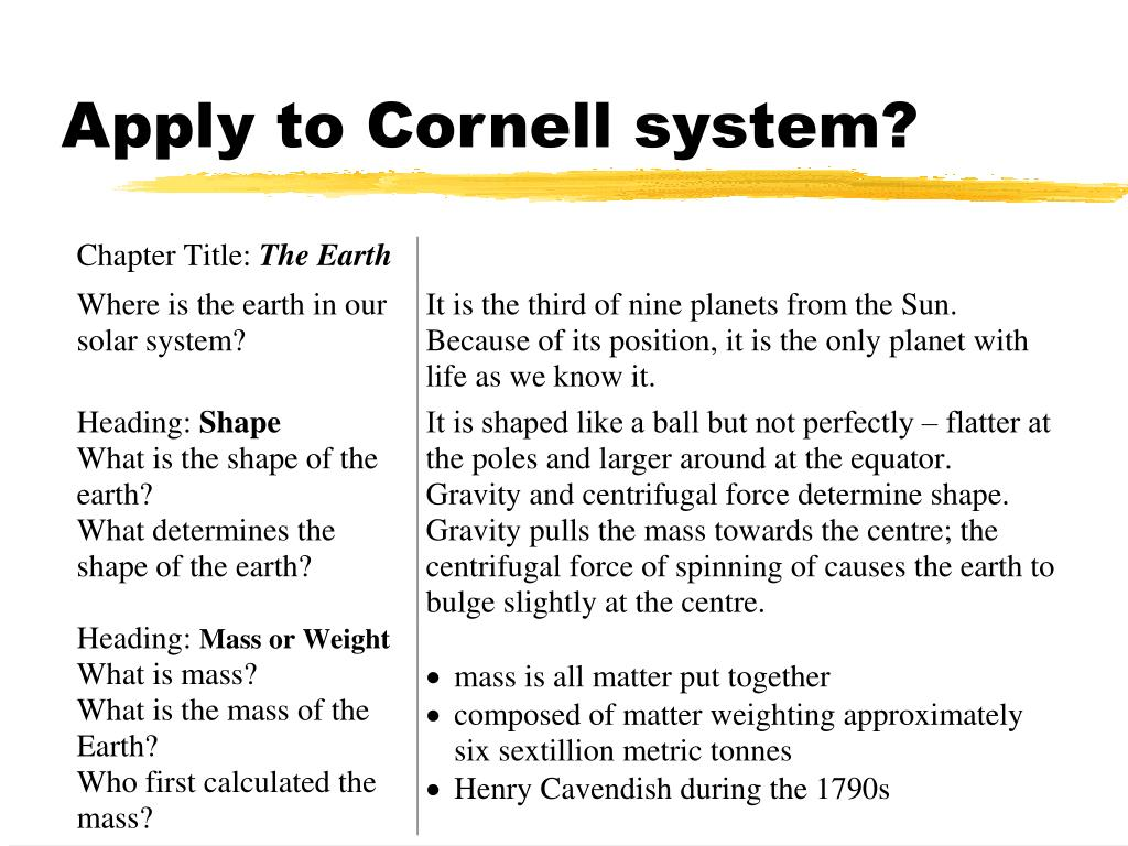 Apply to Cornell system?