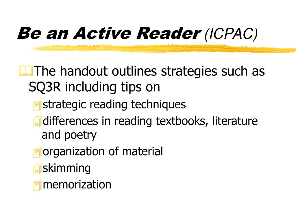 Be an Active Reader