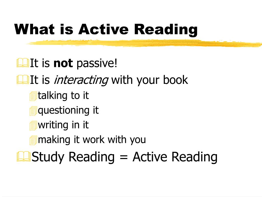 What is Active Reading