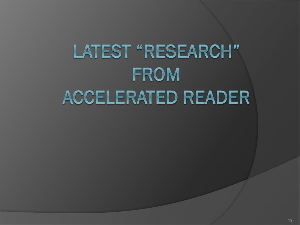 """Latest """"research"""" from"""