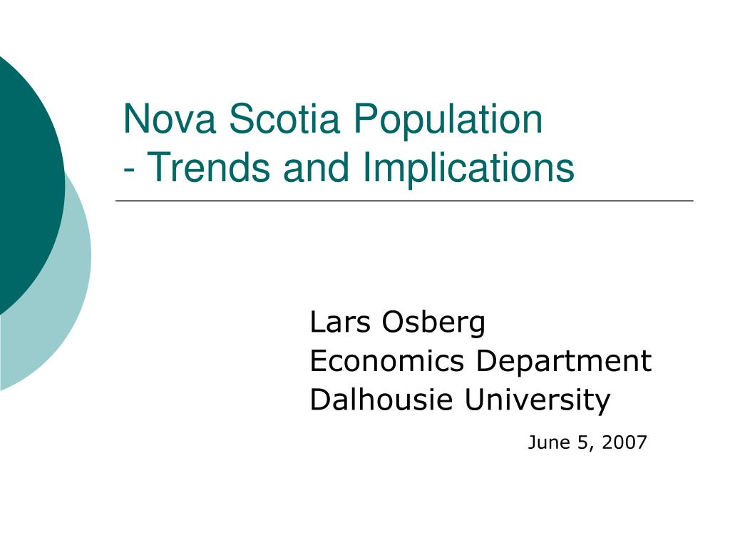 nova scotia population trends and implications
