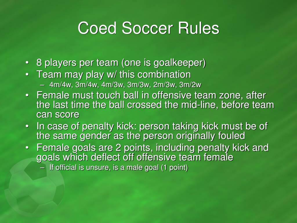 Coed Soccer Rules