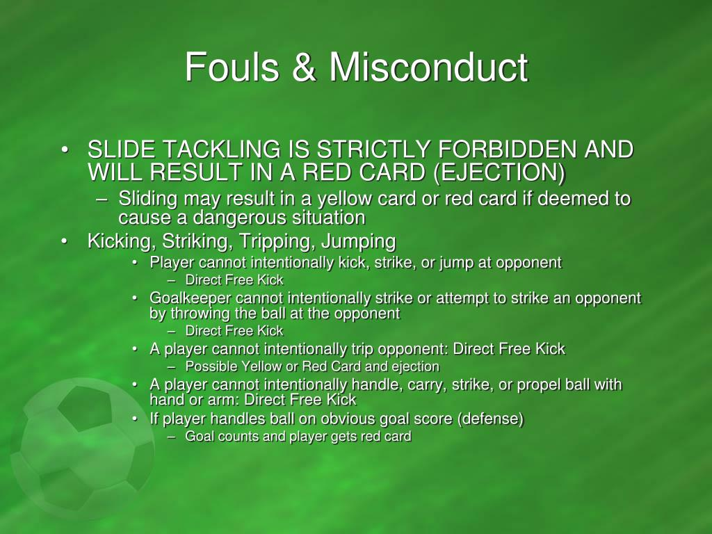 Fouls & Misconduct