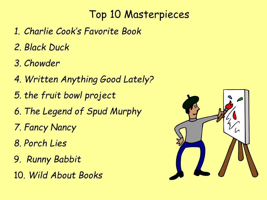 Top 10 Masterpieces