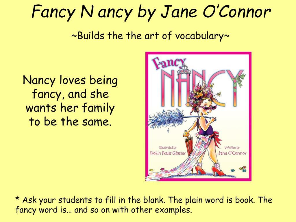 Fancy N ancy by Jane O'Connor