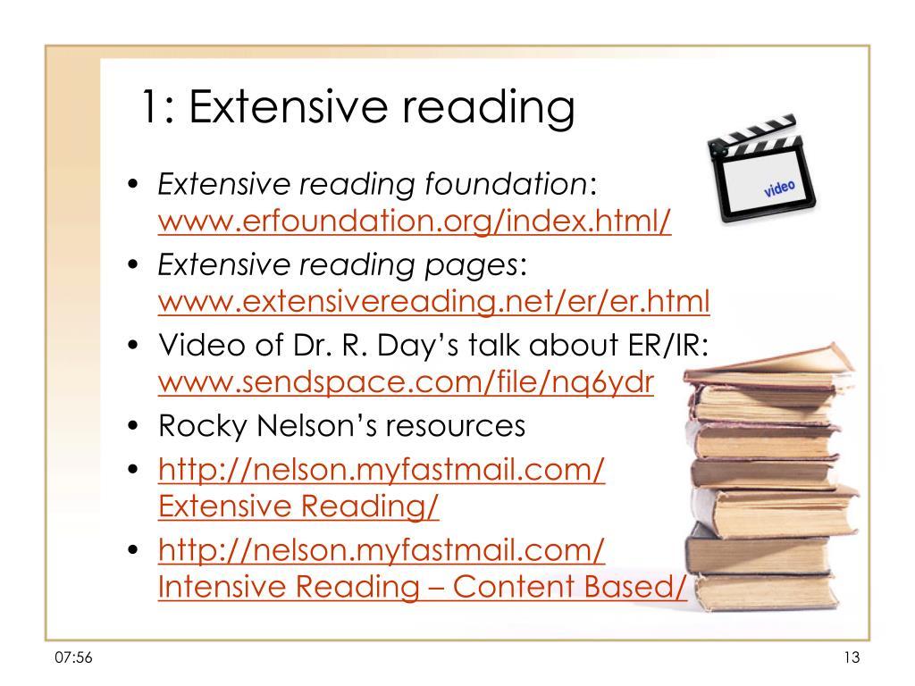 1: Extensive reading