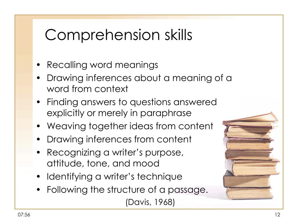 Comprehension skills