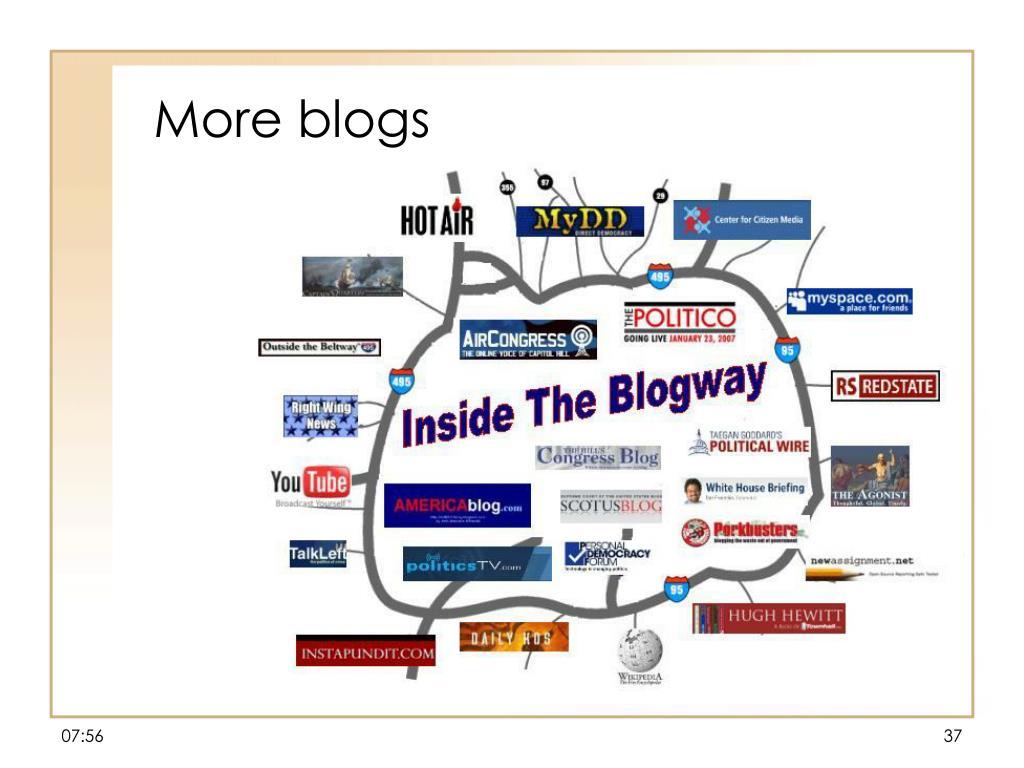 More blogs