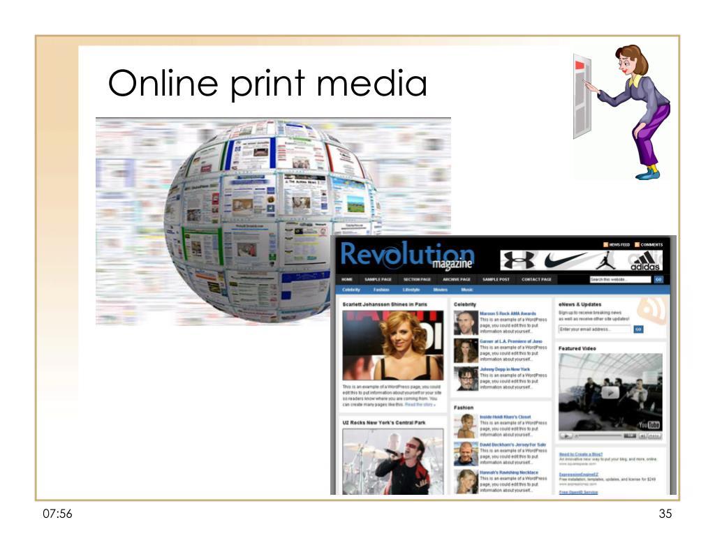 Online print media