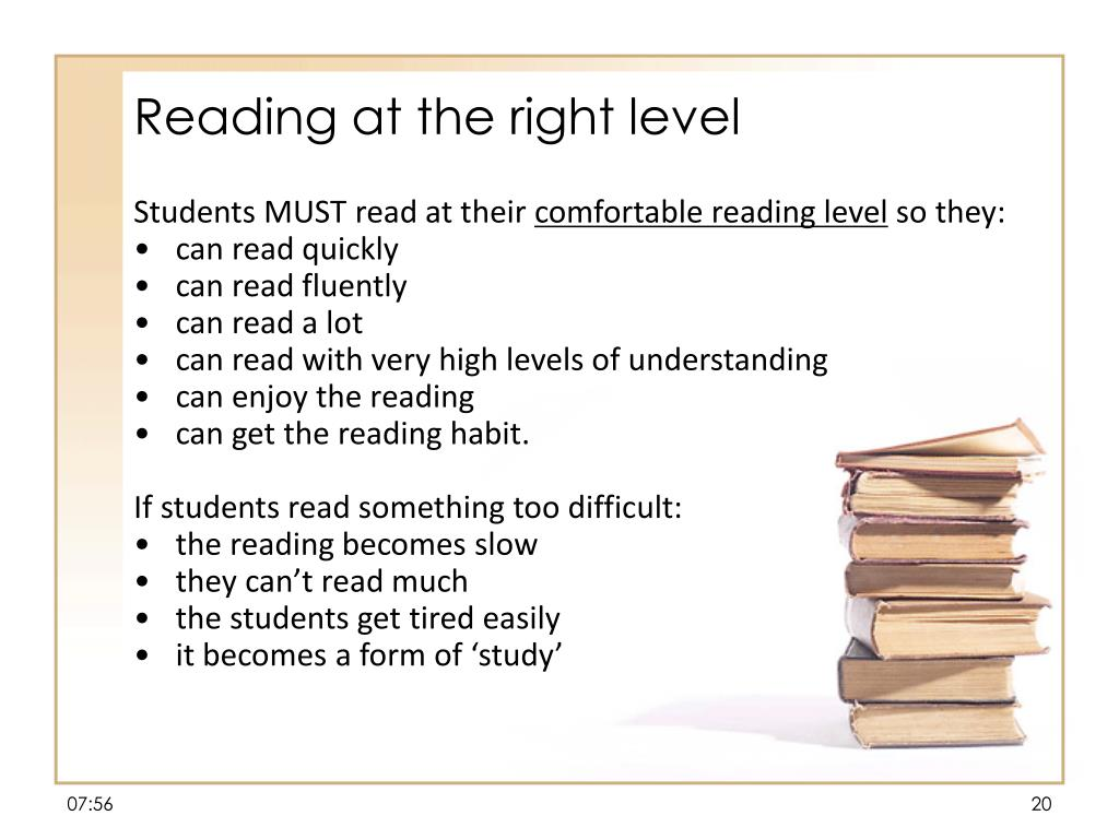 Reading at the right level