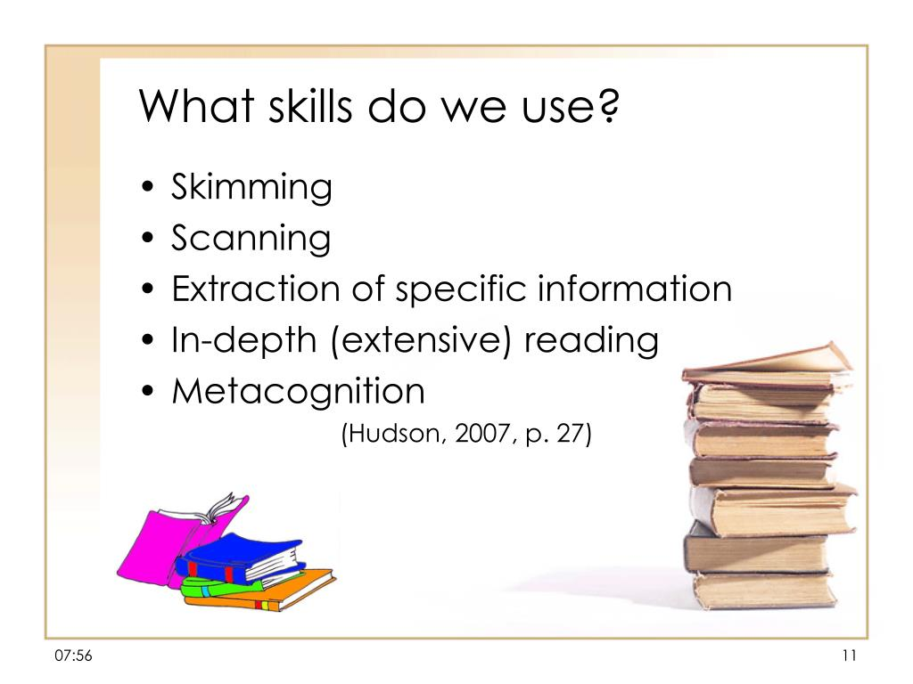 What skills do we use?