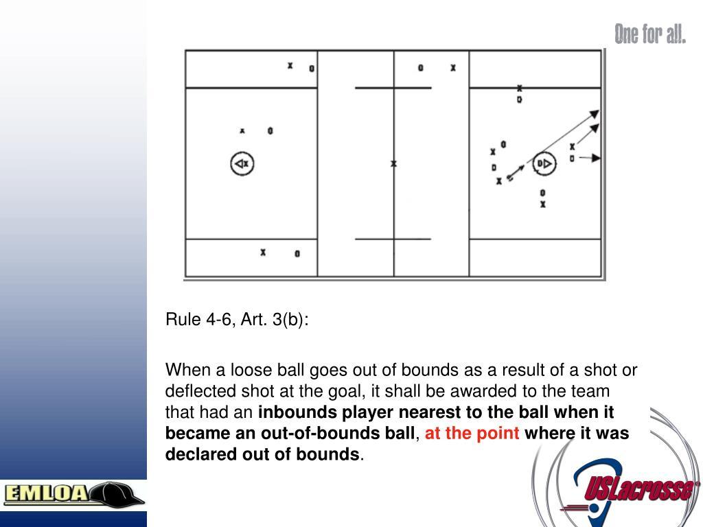 Rule 4-6, Art. 3(b):