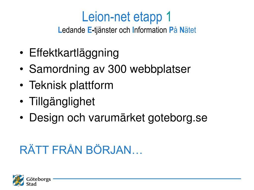 Leion-net etapp