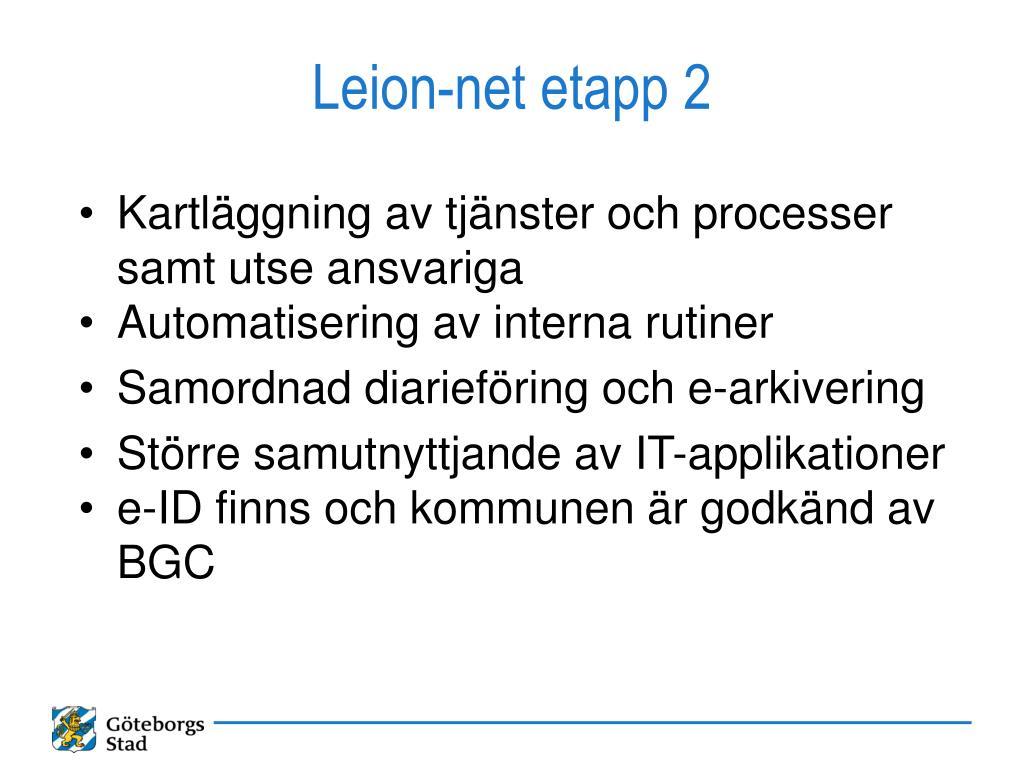 Leion-net etapp 2
