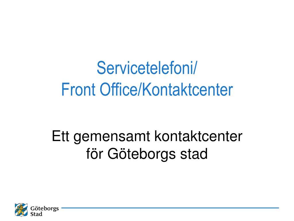 Servicetelefoni/