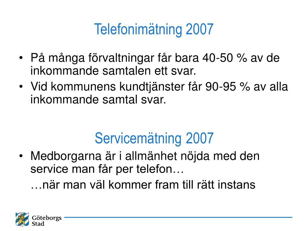 Telefonimätning 2007
