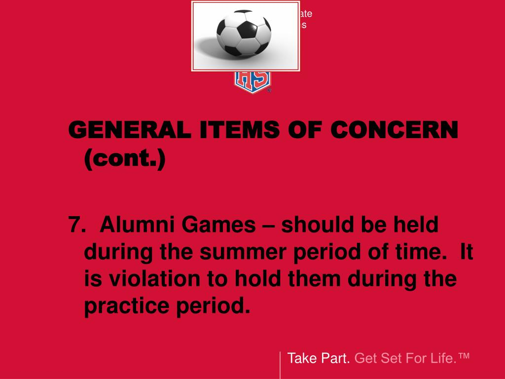GENERAL ITEMS OF CONCERN (cont.)