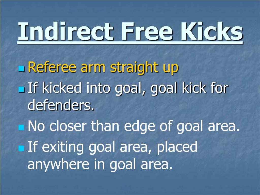 Indirect Free Kicks