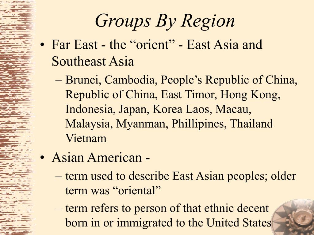 Groups By Region
