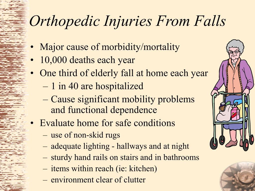 Orthopedic Injuries From Falls
