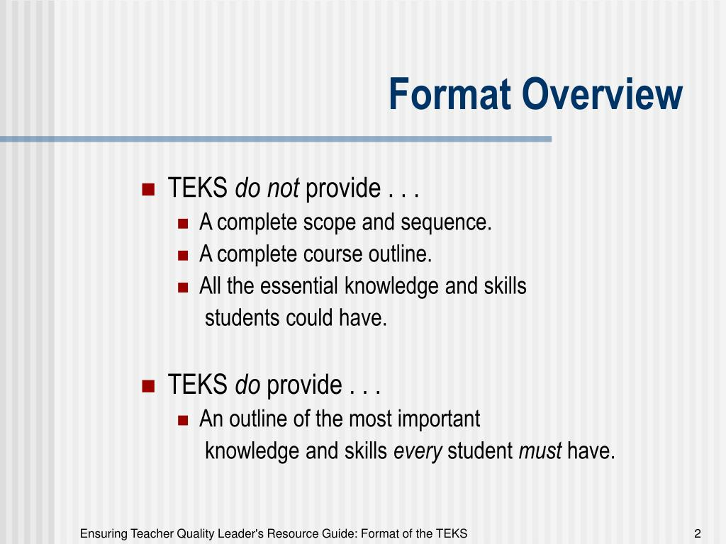 Format Overview