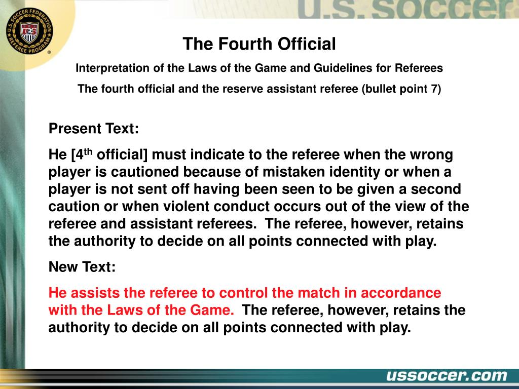 The Fourth Official