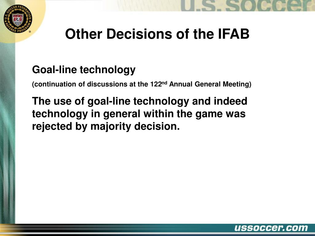 Other Decisions of the IFAB