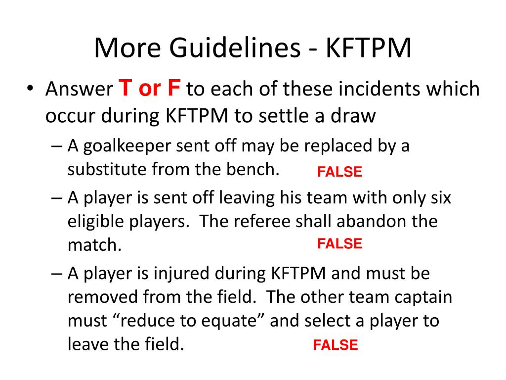 More Guidelines - KFTPM