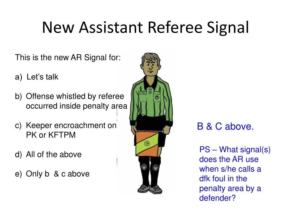 New Assistant Referee Signal