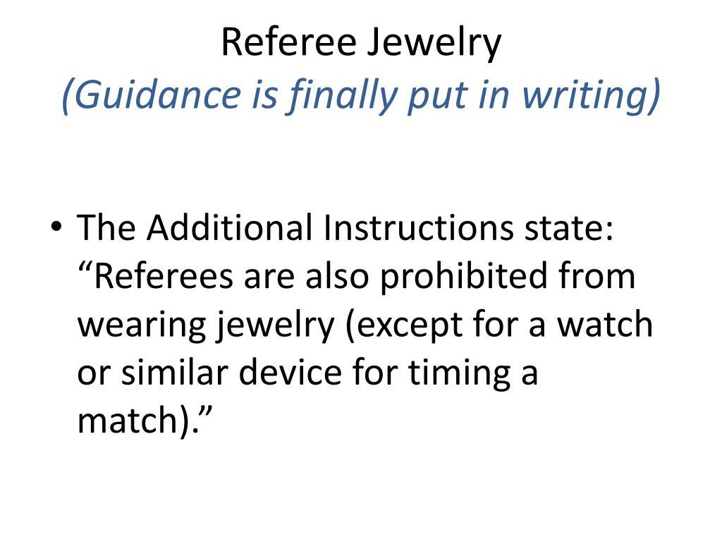 Referee Jewelry