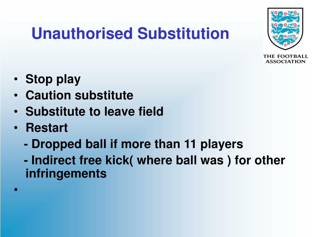 Unauthorised Substitution