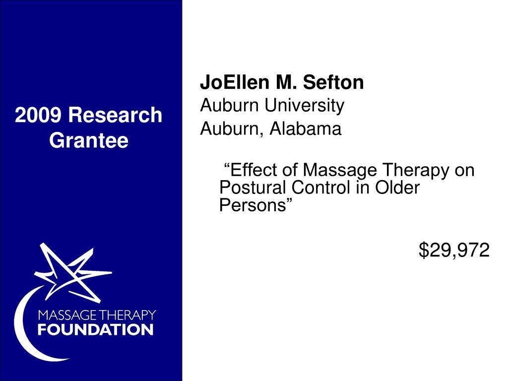 2009 Research Grantee