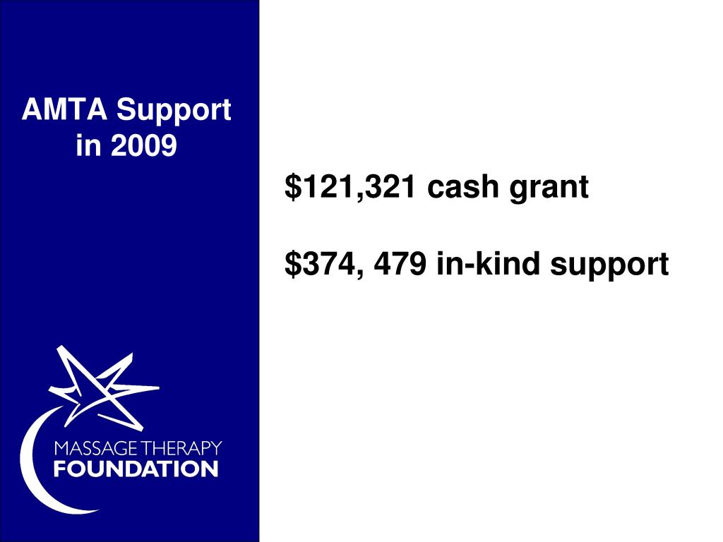 AMTA Support in 2009