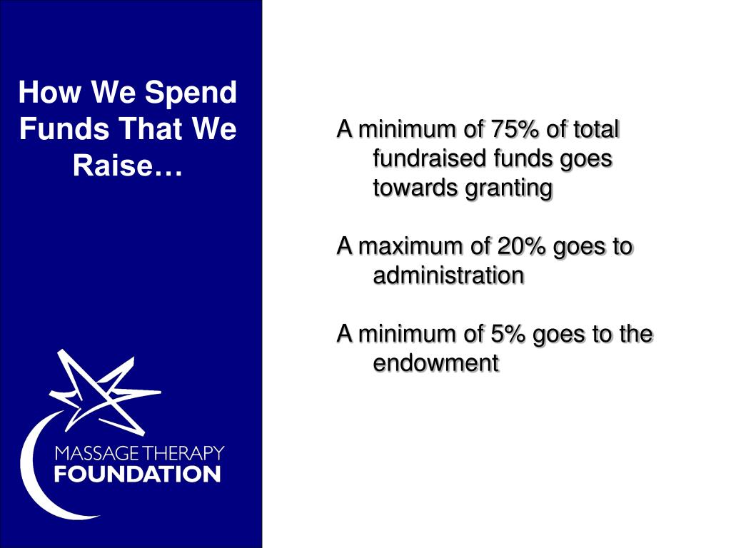 How We Spend Funds That We Raise…