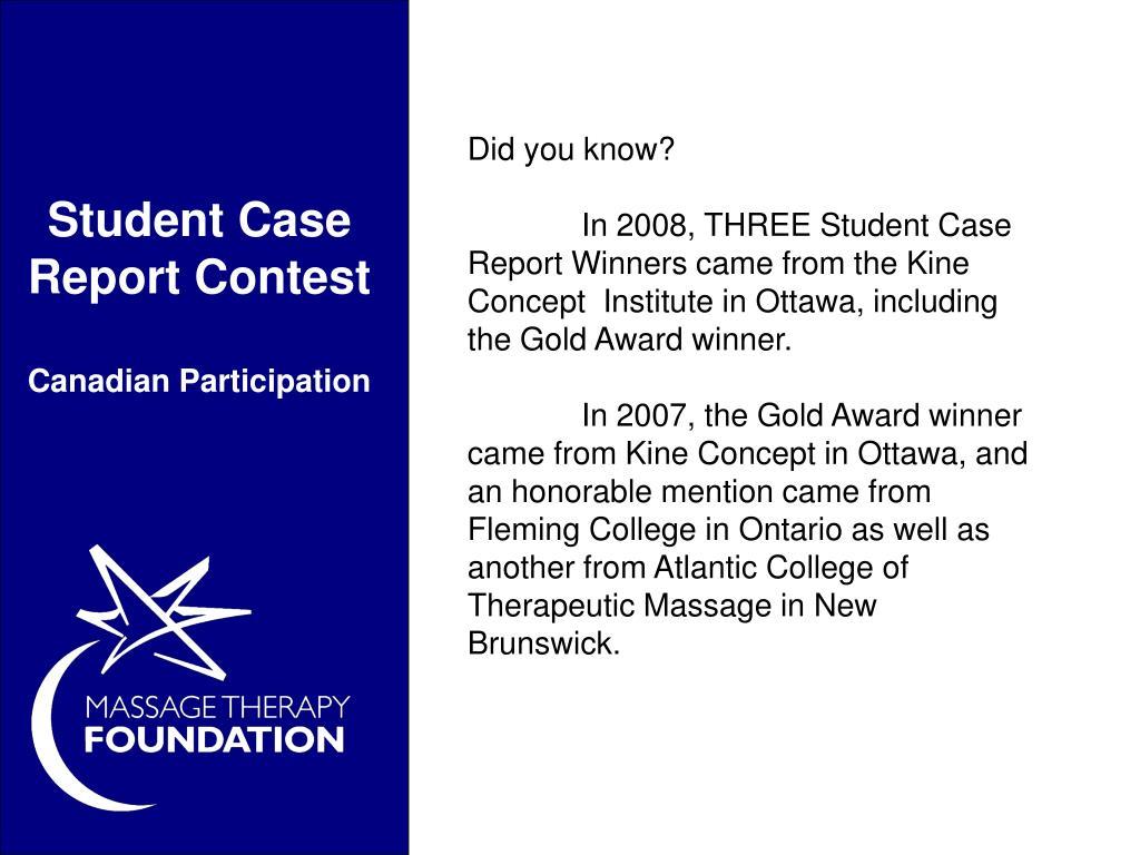 Student Case Report Contest