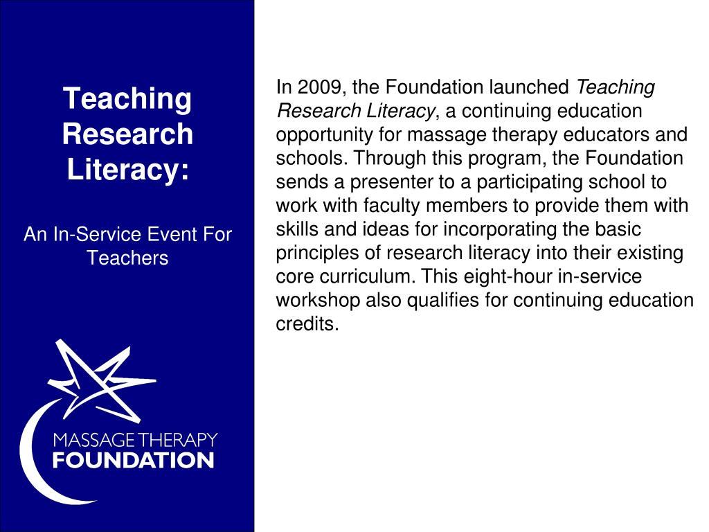 Teaching Research Literacy: