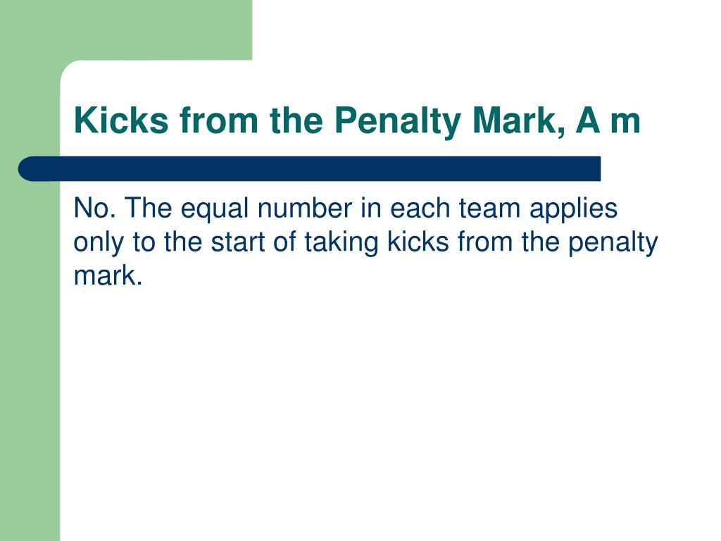 Kicks from the Penalty Mark, A m