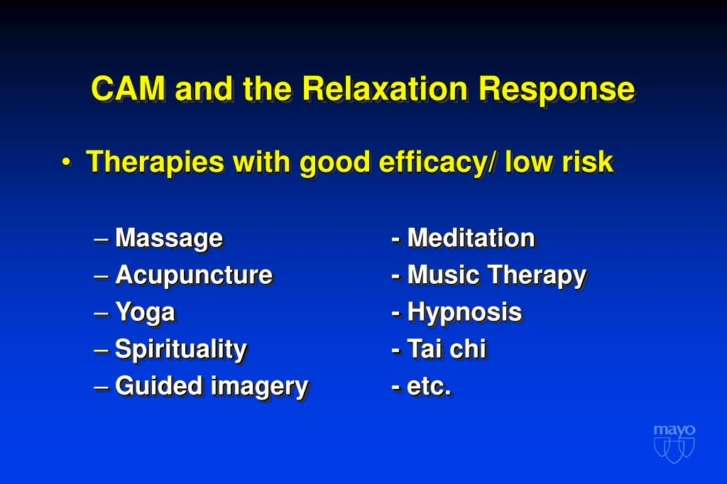 CAM and the Relaxation Response