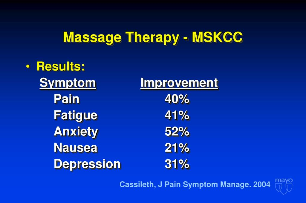 Massage Therapy - MSKCC