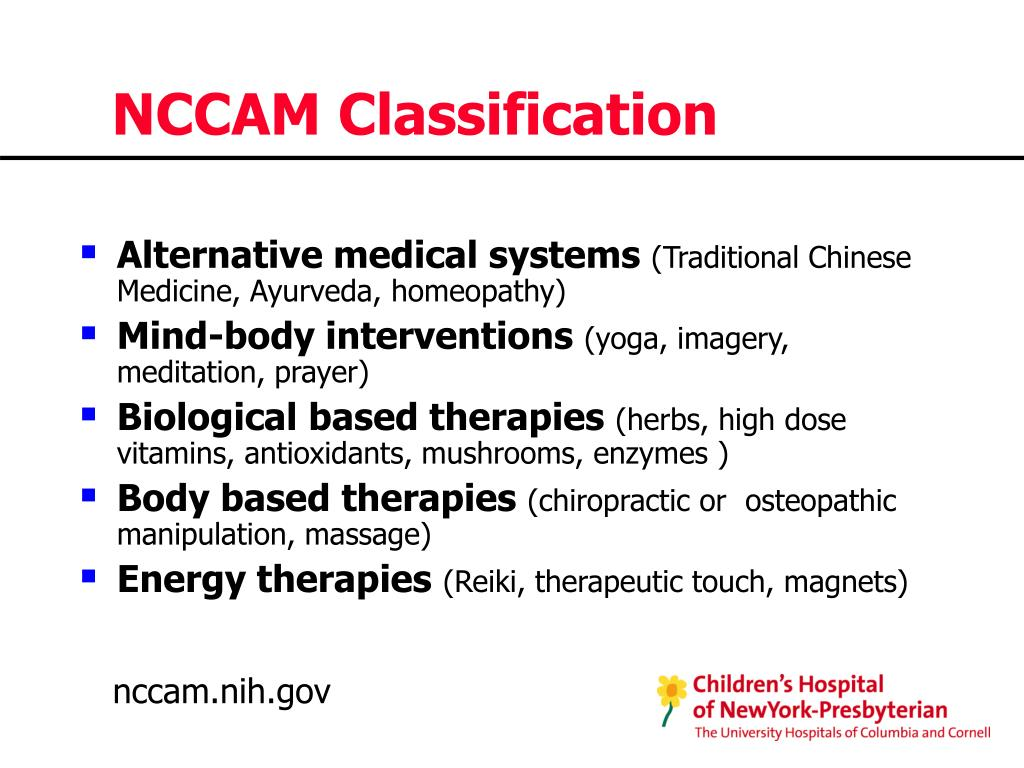 NCCAM Classification