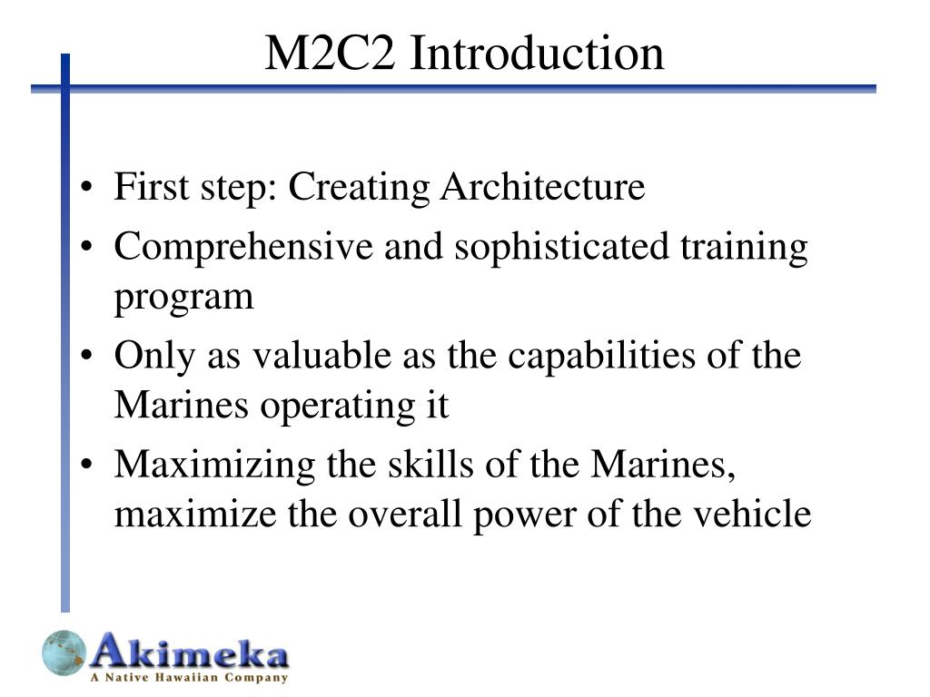 M2C2 Introduction