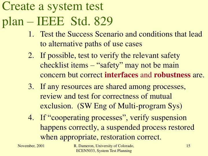 Create a system test
