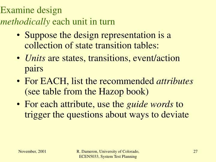Examine design