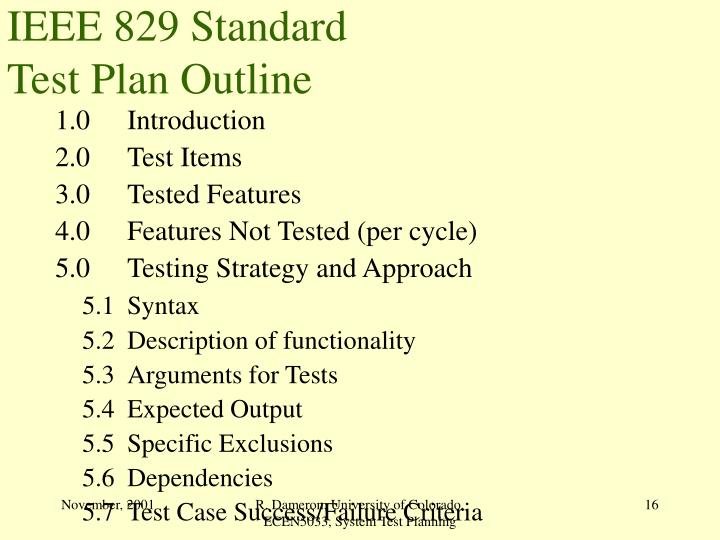 IEEE 829 Standard
