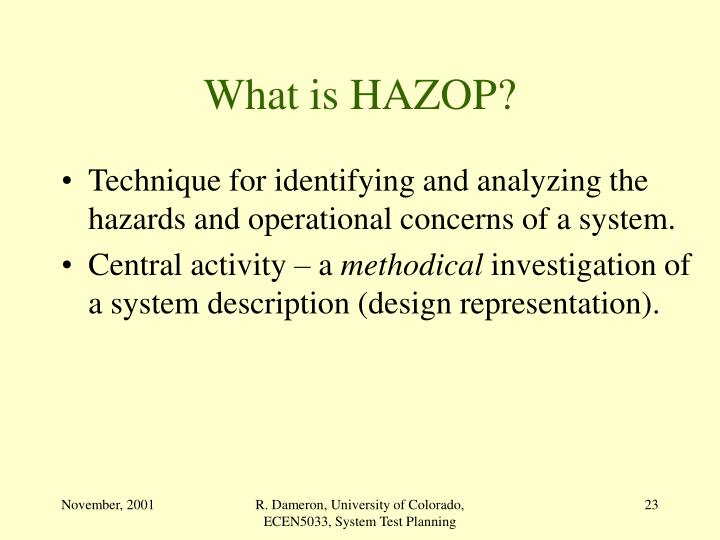 What is HAZOP?