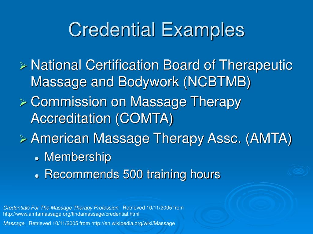 Credential Examples