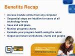 benefits recap