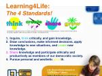 learning4life the 4 standards